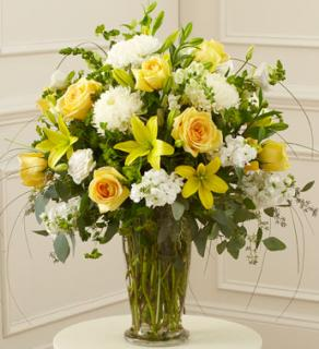 Beautiful Blessings Yellow Vase Arrangement