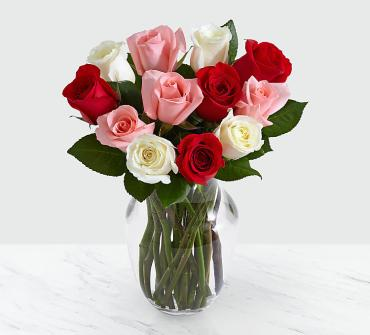 One Dozen Sweetheart Roses