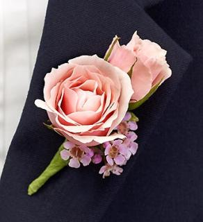 Pink Ring Bearer Boutonnière
